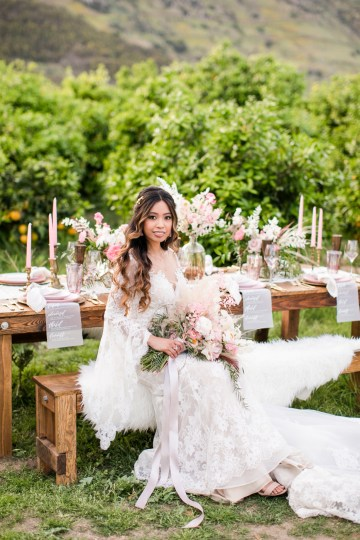Pink Boho Farm Wedding Inspiration filled with Pretty Details – Carrie McCluskey Photo 13