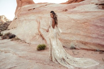 Rue de Seine Moonrise Canyon Wedding Dress Collection – Dolly Gown 1