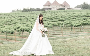 Southern Black-Tie Winery Wedding