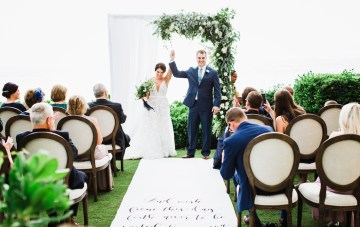 Intimate Hawaiian Destination Wedding Featuring An Inspirational Aisle Runner