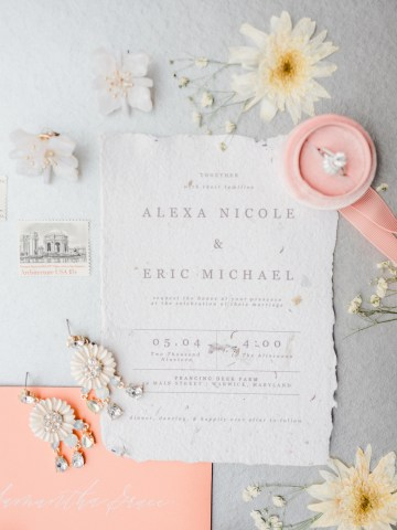 Whimsical Pantone Living Coral Colorful Meadow Wedding Inspiration – Kira Nicole Photography 10