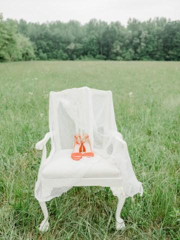 Whimsical Pantone Living Coral Colorful Meadow Wedding Inspiration – Kira Nicole Photography 12