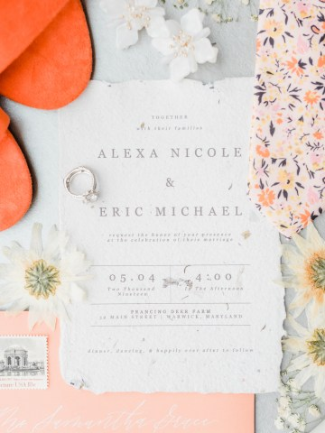 Whimsical Pantone Living Coral Colorful Meadow Wedding Inspiration – Kira Nicole Photography 14