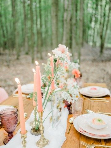 Whimsical Pantone Living Coral Colorful Meadow Wedding Inspiration – Kira Nicole Photography 19