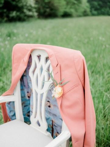 Whimsical Pantone Living Coral Colorful Meadow Wedding Inspiration – Kira Nicole Photography 24