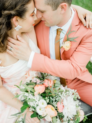 Whimsical Pantone Living Coral Colorful Meadow Wedding Inspiration – Kira Nicole Photography 29