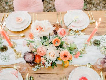 Whimsical Pantone Living Coral Colorful Meadow Wedding Inspiration – Kira Nicole Photography 3