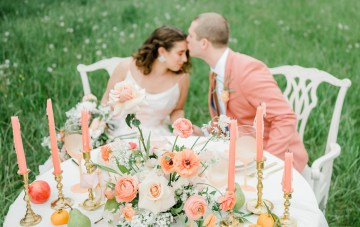 Pantone Living Coral Meadow Wedding Inspiration