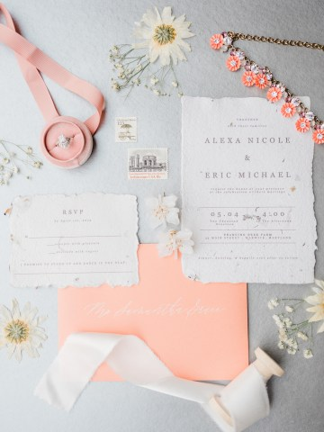 Whimsical Pantone Living Coral Colorful Meadow Wedding Inspiration – Kira Nicole Photography 8