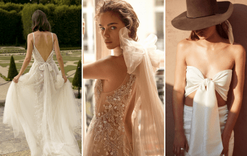 20 Wedding Dresses With Bows Spotted At Bridal Fashion Week