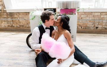 Adorable Loft Wedding Inspiration With A Cotton Candy Cart