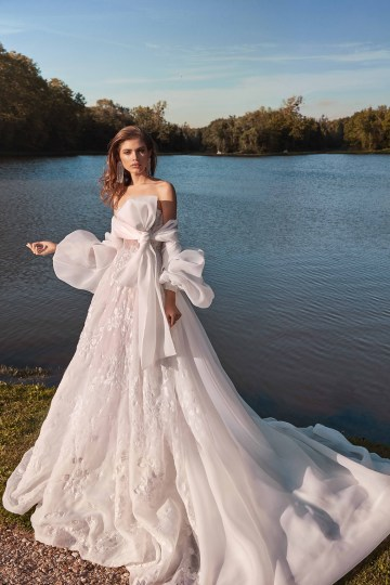 Galia Lahav Fancy White 2020 Wedding Dress Collection – Meghan with Cape