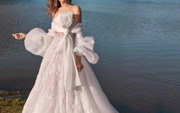 Galia Lahav Fancy White 2020 Wedding Dress Collection – Meghan with Cape