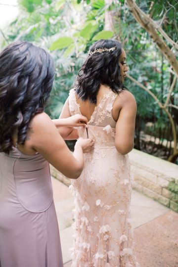 Pretty Texas Garden Wedding With A Blush Pink Wedding Dress – Deven Ashley 15