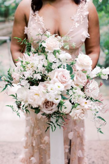 Pretty Texas Garden Wedding With A Blush Pink Wedding Dress – Deven Ashley 18