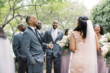 Pretty Texas Garden Wedding With A Blush Pink Wedding Dress – Deven Ashley 5