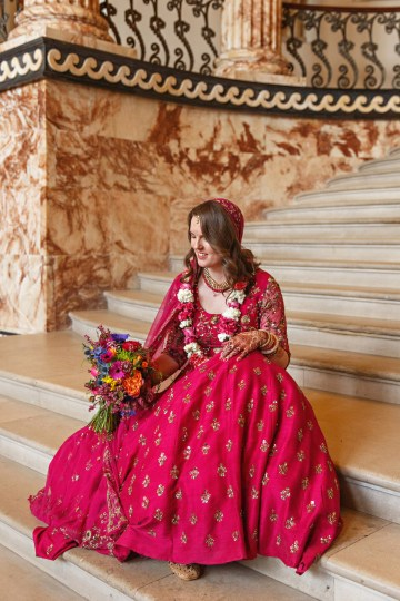 Regal and Colorful Indian Wedding with Watercolor Details – Chris Taylor 31