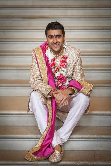 Regal and Colorful Indian Wedding with Watercolor Details – Chris Taylor 32