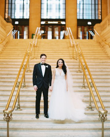 Gorgeous Green and Pink Chicago Ballroom Wedding – Clary Pfeiffer Photography – LOLA Event Productions 19