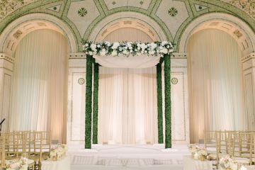 Gorgeous Green and Pink Chicago Ballroom Wedding – Clary Pfeiffer Photography – LOLA Event Productions 3