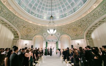 Gorgeous Green & Pink Chicago Ballroom Wedding