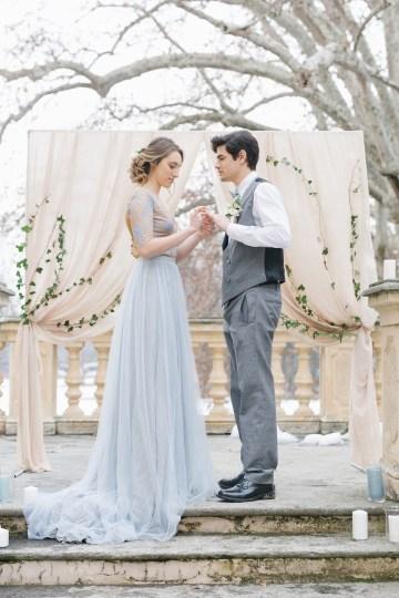Gorgeous Winter Blue Wedding Inspiration – Irene Fucci 14
