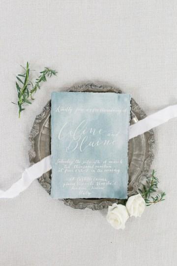 Gorgeous Winter Blue Wedding Inspiration – Irene Fucci 43