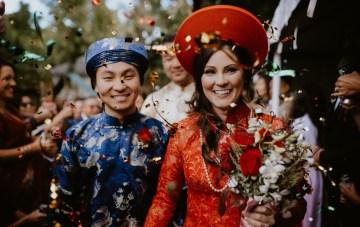 Dramatic Vietnamese American Wedding Overlooking Little Rock