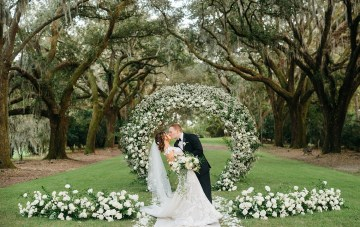Lavish Florals Decorate This Gorgeous Intimate Southern Wedding