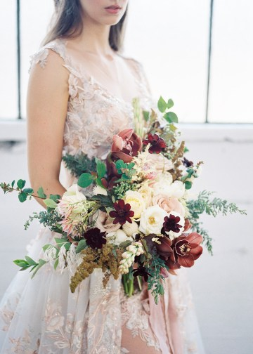 Mauve Fig Wedding Inspiration with a Gorgeous Ballgown Wedding Dress – Maricle King 17