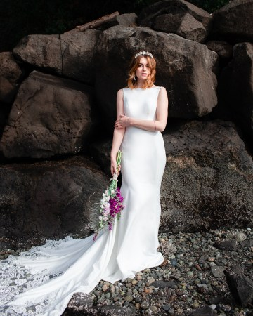 Maggie Sottero Pacific Northwest Beach Wedding Inspiration – Claire Eliza – Bridal Musings 54