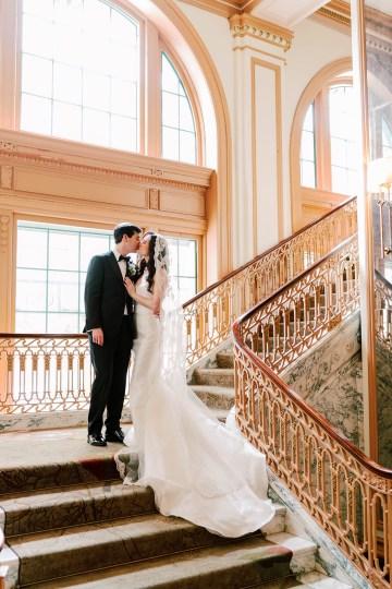 Ornate Jewish Ballroom Wedding with the Brides Grandmothers Wedding Dress – Danielle Harris Photography 29