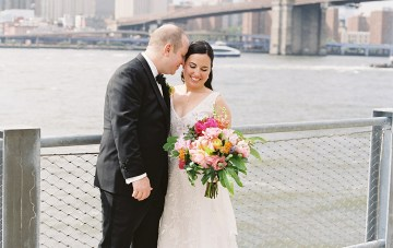 Classy & Colorful Brooklyn Bridge Wedding