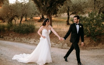 Organic & Green Tuscan Cathedral Wedding