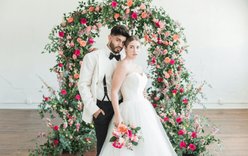 How To Turn Your Indoor Wedding Venue Into A Lush Garden