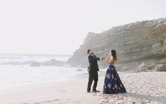 Stunning Red Hindu Destination Wedding In Portugal