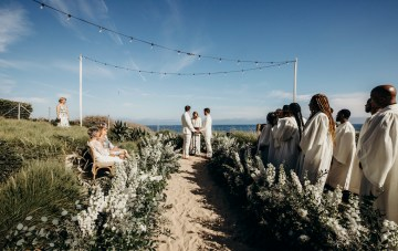 This Hungarian Couple Traveled To Malibu For Their Same-Sex Wedding