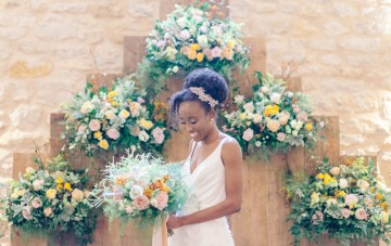 Rainy English Barn Wedding Inspiration With Pops Of Color
