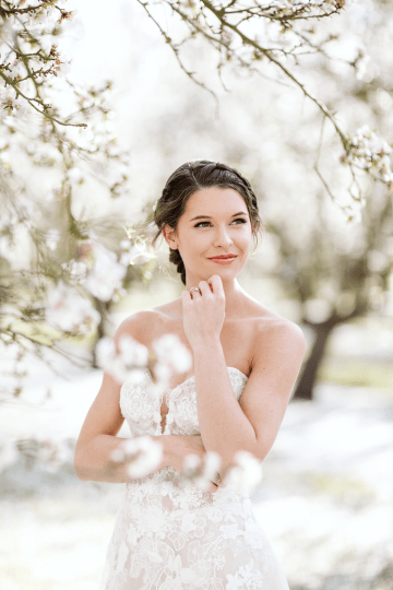 Whimsical Almond Orchard Blossom Wedding Inspiration – Playful Soul Photography 24
