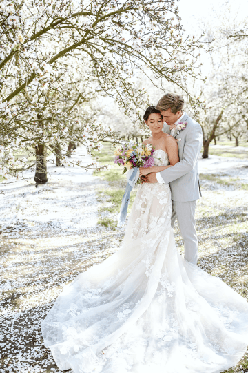 Whimsical Almond Orchard Blossom Wedding Inspiration – Playful Soul Photography 31