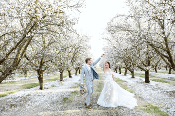 Whimsical Almond Orchard Blossom Wedding Inspiration – Playful Soul Photography 48