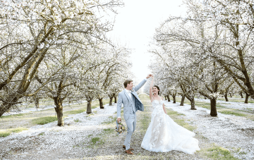 Pastel Wedding Ideas In A Blossoming Almond Orchard