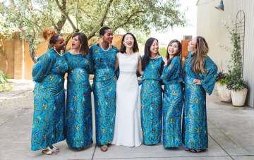 Colorful Dance-filled Nigerian & Japanese Sonoma Wedding