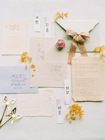 Modern Korean Wedding Inspiration – lilelements – Anadena Photography 61