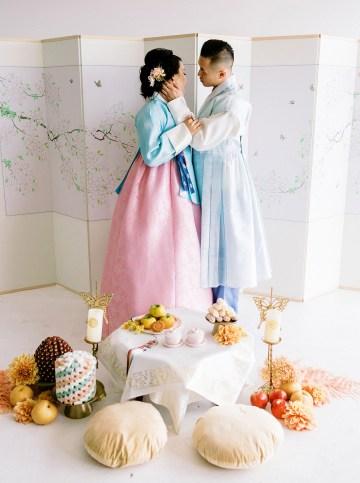 Modern Korean Wedding Inspiration – lilelements – Anadena Photography 80