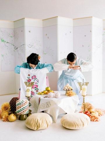 Modern Korean Wedding Inspiration – lilelements – Anadena Photography 84