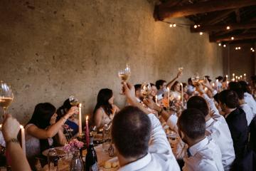 Bohemian Wildflower Wedding in Northern Italy – Margherita Calati – Castello di Paderna 15