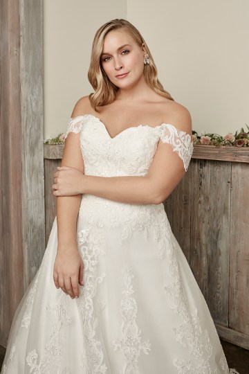 Casablanca Bridal Off-the-shoulder Wedding Dresses – Bridal Musings – 2418C – Caroline 1jpg