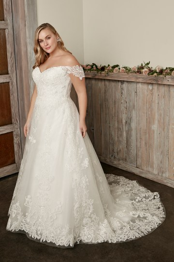 Casablanca Bridal Off-the-shoulder Wedding Dresses – Bridal Musings – 2418C – Caroline 2