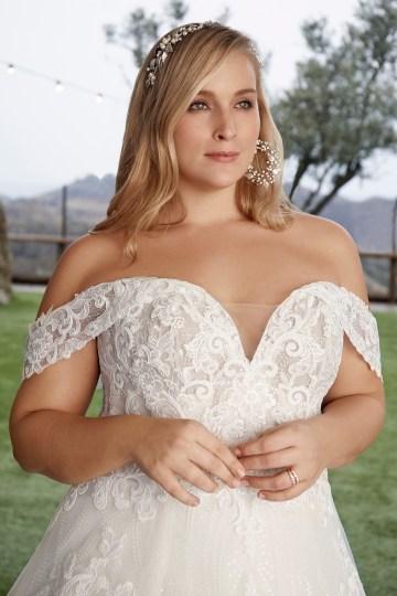 Casablanca Bridal Off-the-shoulder Wedding Dresses – Bridal Musings – 2427C – Myla 1